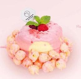 粉红樱花莓果舒芙蕾